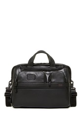 Tumi Alpha Ii T Pass Medium Screen Leather Laptop Slim Brief Black