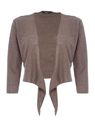 Tigi Tie Front Cardigan Brown