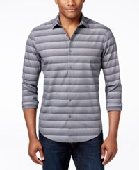 Alfani Red Men's Bourne Ombre Optic Stripe Long Sleeve Shirt Only At Macy's