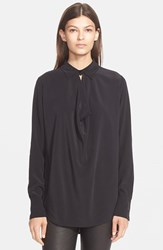 Women's Vince Cowl Neck Blouse Black
