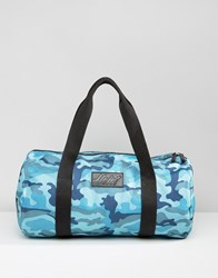 Heist Duffle Quilted Bag In Blue Camo Blue