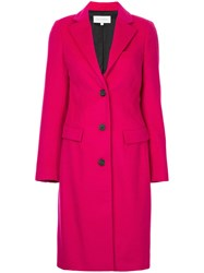 Ck Calvin Klein Single Breasted Coat Red