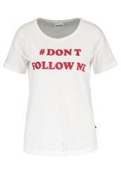 Noisy May Nmalfred Print Tshirt Bright White Red