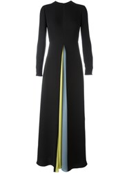 Valentino Keyhole Draped Detail Dress Black