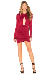 By The Way Lisette Ruched Cut Out Dress Wine