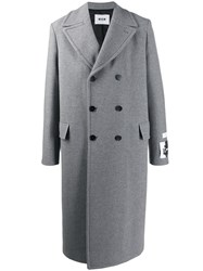Msgm Portrait Patch Double Breasted Coat 60