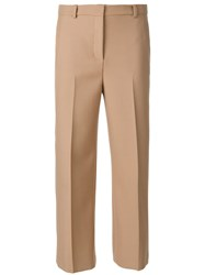Versace Cropped Trousers Brown