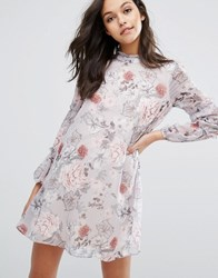 Miss Selfridge Printed Ruffle Mini Dress Print Multi