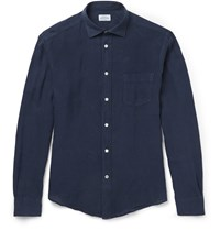 Hartford Linen Shirt Blue