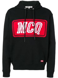 Mcq By Alexander Mcqueen Logo Patch Hoodie Black