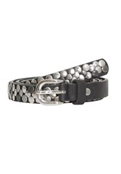 Hallhuber Narrow Belt With Studs Black