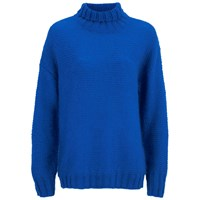 Baum Und Pferdgarten Women's Cosima Roll Neck Knitted Jumper Palace Blue
