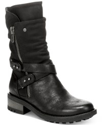 Carlos By Carlos Santana Sawyer Tall Moto Boots Women's Shoes Black