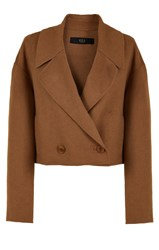 Tibi Reversible Double Faced Wool Angora Cropped Jacket