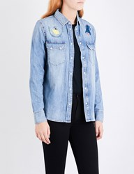 Diesel De Lilla Embroidered Denim Shirt 01 Blue