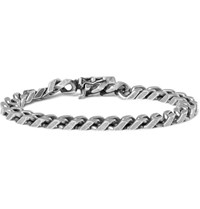 Saint Laurent Burnished Silver Tone Bracelet Silver