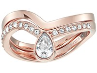 Michael Kors Brilliance Powerful Romance Pave Double Stack Ring Rose Gold Ring