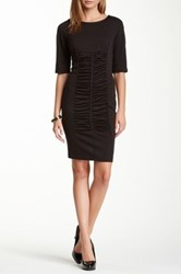 Insight Front Ruched Dress Black