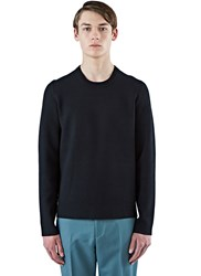 Acne Studios Lang Tight Stretch Crew Neck Sweater Black