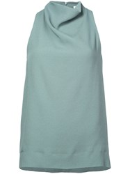 Nomia Sleeveless Cowl Neck Blouse Green