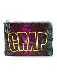 House Of Holland 'Crap Pouch Snake' Clutch Pink And Purple