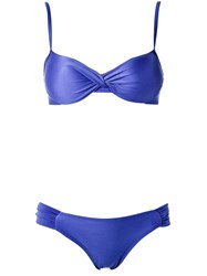 Lygia And Nanny Push Up Bikini Set Blue