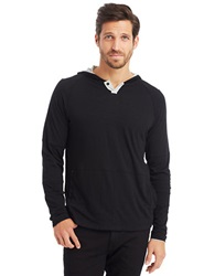 Kenneth Cole Pima Hooded Pullover Black