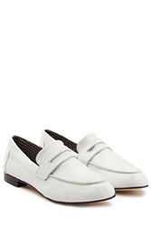 Robert Clergerie Leather Zemoc Slip On Loafers White