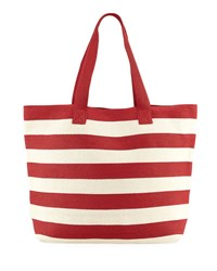 San Diego Hat Company Wide Striped Tote Bag Red