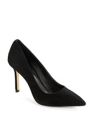 424 Fifth Bianka Suede Point Toe Pumps Black