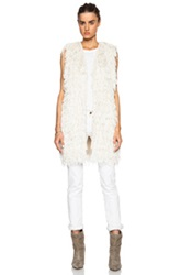 Isabel Marant Alfie Summer Vest In White