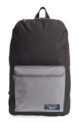 Men's Original Penguin Nylon And Canvas Backpack Black True Black