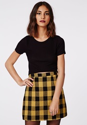 Missguided Round Neck Cap Sleeve Ribbed Crop Top Black
