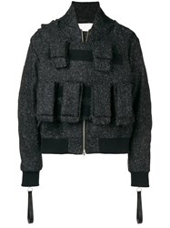 Matthew Miller Bomber With Removable Tactical Vest Mela Black