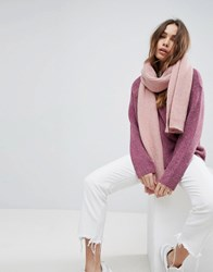 Weekday Wool Mix Oversize Chunky Scarf Pink