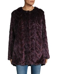 Sam Edelman Faux Fur Coat Eggplant