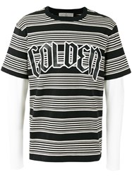 Golden Goose Deluxe Brand Layered Stripe T Shirt Black
