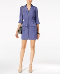 Alfani Utility Shirtdress Only At Macy's Alf Pery Blue