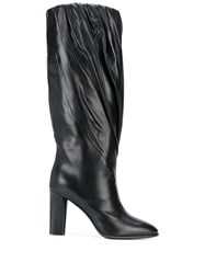Givenchy Pleated Calf High Boots Black