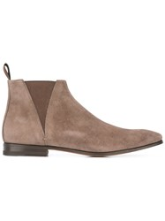 Santoni Suede Boots Brown