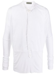 Di Liborio Pleated Panel Shirt White