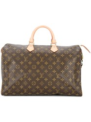 Louis Vuitton Vintage Speedy 40 Handbag Brown