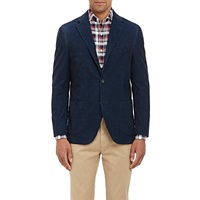 Corduroy Three Button Sportcoat Blue