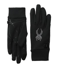 Spyder Stretch Fleece Conduct Glove Black Silver Extreme Cold Weather Gloves