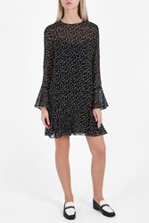 Theory Starry Print Dress Blk Ivo