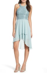 Speechless Lace High Low Dress Sage