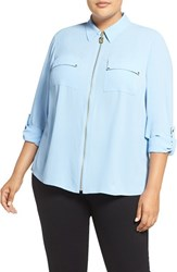 Michael Michael Kors Plus Size Women's Dog Tag Zip Shirt