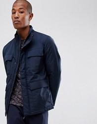 Selected Homme Technical Jacket With Thinsulate Lining And Multimedia Pocket Dark Saphire Navy