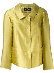 Etro Buttoned Jacket Green