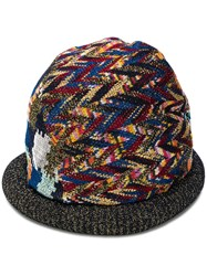 Missoni Abstract Weave Hat Blue